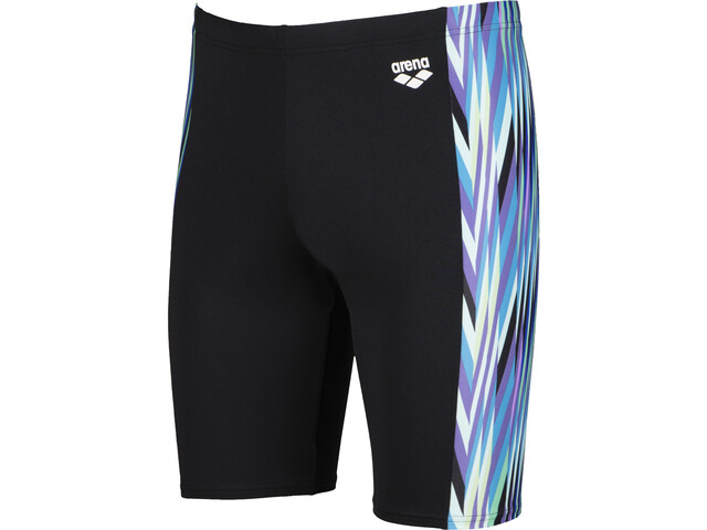 arena Speed Stripes Caleçon de bain Homme, black/multi green